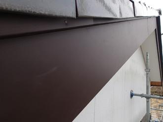 破風板の板金巻き工事