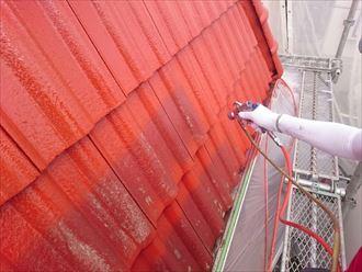 佐倉市 モニエル瓦の屋根塗装工事005_R