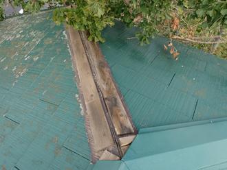 匿名様 東金市 台風 屋根補修 棟板金飛散 板金の剥がれ