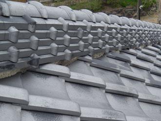 匝瑳市の屋根リフォーム|棟漆喰詰め増し工事|山口様