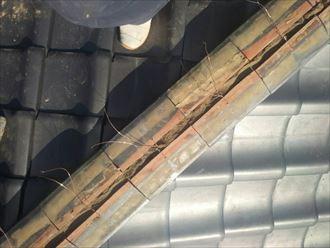 千葉市 瓦屋根の棟ズレ 工事001_R