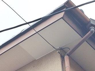 軒天補修、鳥の巣撤去|鎌ケ谷市、山本様