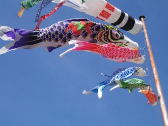 風に泳ぐ鯉のぼり