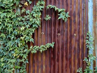 錆びの発生したトタンの外壁