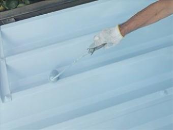 屋根塗装・中塗り、上塗り