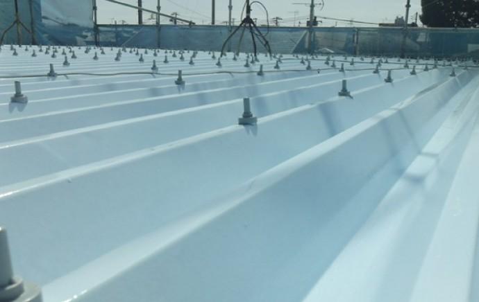 折板屋根の屋根塗装 竣工
