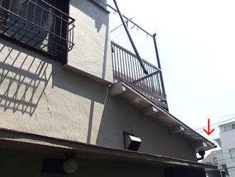匝瑳市 竪樋の元の位置