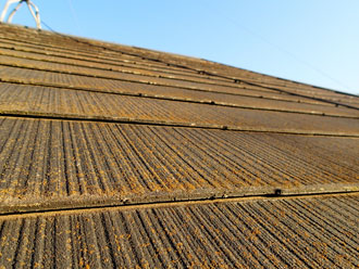 我孫子市でスレート屋根の状態調査
