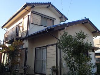 長生郡長南町で破風板と漆喰の点検調査
