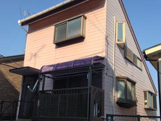 夷隅郡御宿町のお宅で外壁塗装の劣化調査