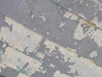 富津市 屋根塗装剥がれ多数