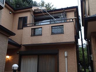 千葉市稲毛区で台風被害による軒樋交換