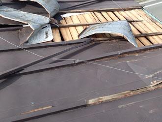 富津市 トタン屋根 剥がれ