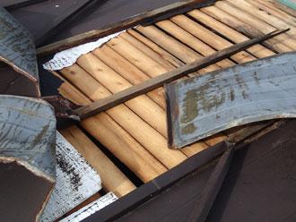 富津市 トタン屋根 下地