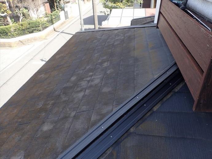 市原市南国分寺で行った棟板金交換工事で下屋根にタフモックを設置