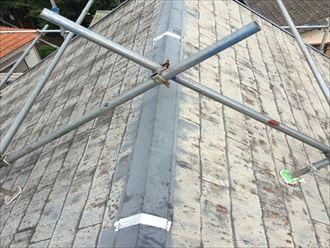 屋根足場,棟板金,防水テープ