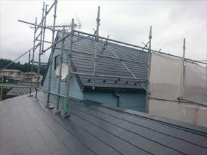 千葉市緑区風災補修を棟板金取替とヤネフレッシュSi屋根塗装の同時施工!アフター