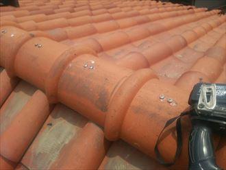 木更津市の雨漏り修理屋根葺き直しと棟取り直し工事