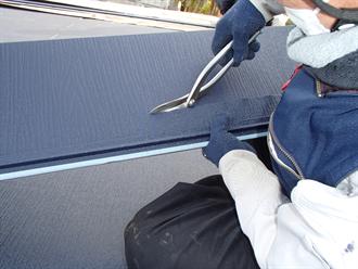 屋根材の加工