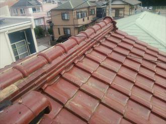 鬼瓦のズレ・防水紙の劣化、棟取り直し・屋根葺き直し工事で改善|袖ケ浦市