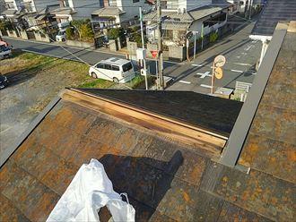 千葉市若葉区 貫板の劣化
