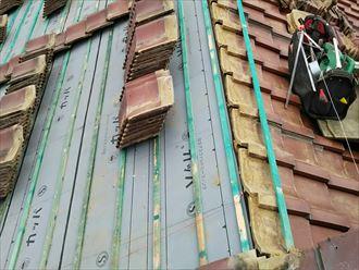 瓦屋根、防水紙葺き直し工事で雨漏り改善|君津市