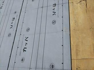 君津市 新規防水紙設置
