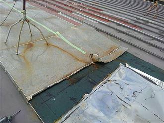 習志野市 補修屋根材の撤去