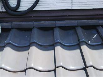 下屋の漆喰補修工事