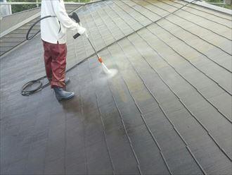 富津市で遮熱塗料で屋根塗装工事 下処理は大切です