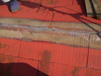 木更津市でコロニアル棟板金の部分交換を施工しました