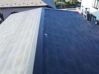 スレート屋根材点検