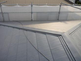 屋根カバー工法の完了