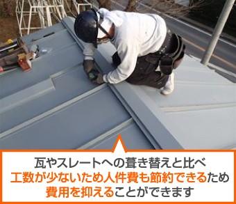 立平葺きは屋根カバーも可能