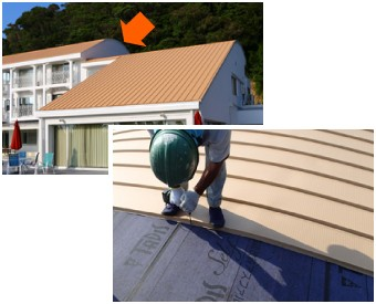 立平葺きは曲面も対応可能