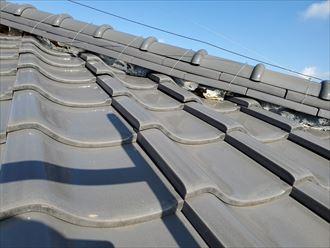流山市若葉台で瓦屋根の漆喰の剥がれ