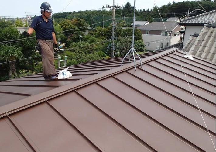 立平葺きでの屋根カバー