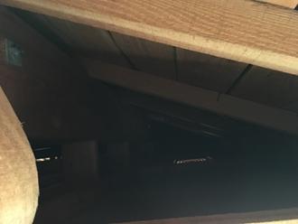 軒天内部の調査、メンテナンス必要