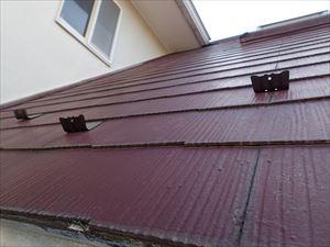 雪止め設置後のスレート屋根