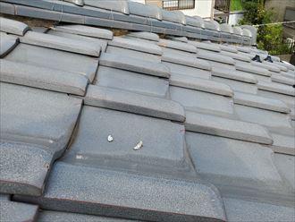 市川市柏井町で瓦屋根の漆喰が剥がれたので調査を行いました