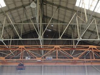 工場屋根の様子調査