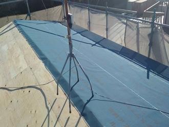 野地板に防水紙敷設