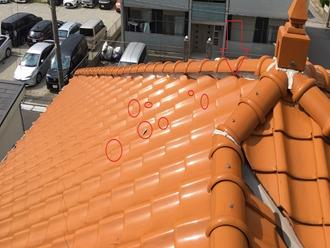 漆喰の飛散、棟取り直し工事