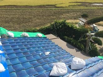 和瓦の台風被害、重い屋根瓦