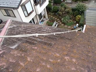 スレート屋根の調査、安心の屋根カバー工事