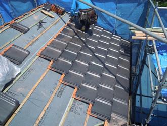 防災瓦の設置(屋根葺き替え工事)