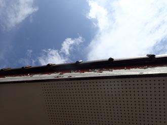 破風板の劣化(詳細)