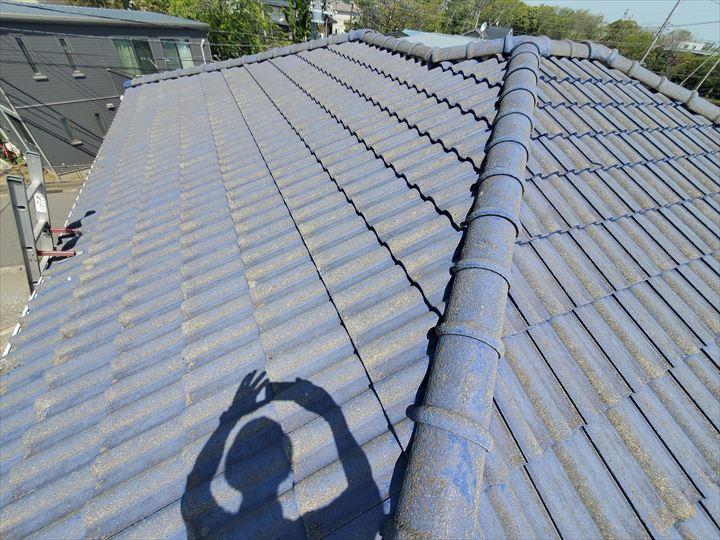 松戸市五香西で行った瓦屋根の漆喰調査
