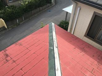 棟板金の調査、被害確認