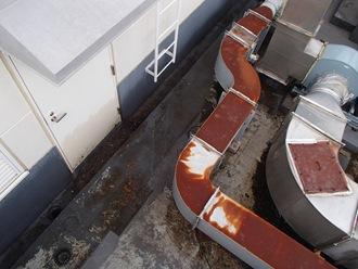 排水溝の雨漏り調査